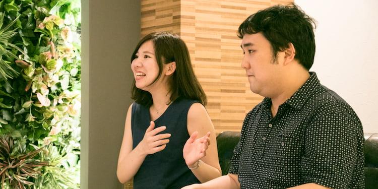 株式会社リーデックスの採用責任者堀江さん、新卒エンジニアの鈴木さんと会話